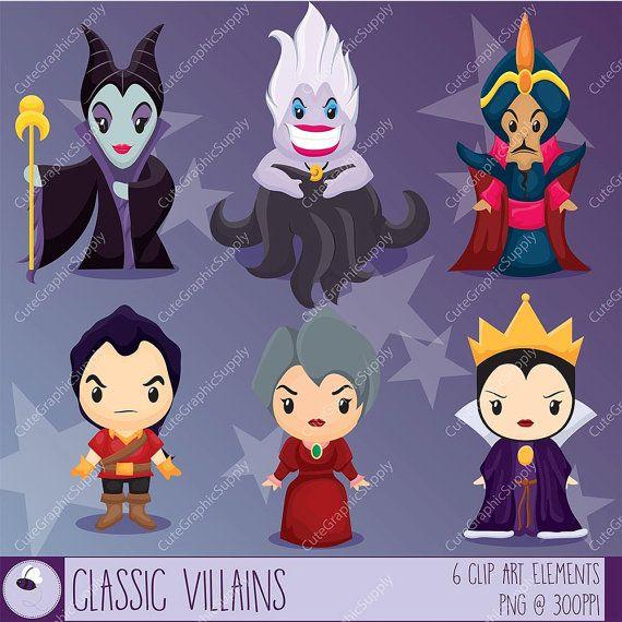 classic villain clipart disney clipart by cutegraphicsupply rh pinterest com Disney Villains Vectors Disney Villains Ursula Clip Art