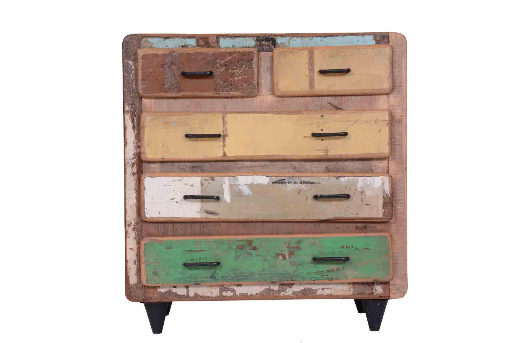 C moda drawers chest mobiliario reciclado mueble de - Muebles de madera teca ...