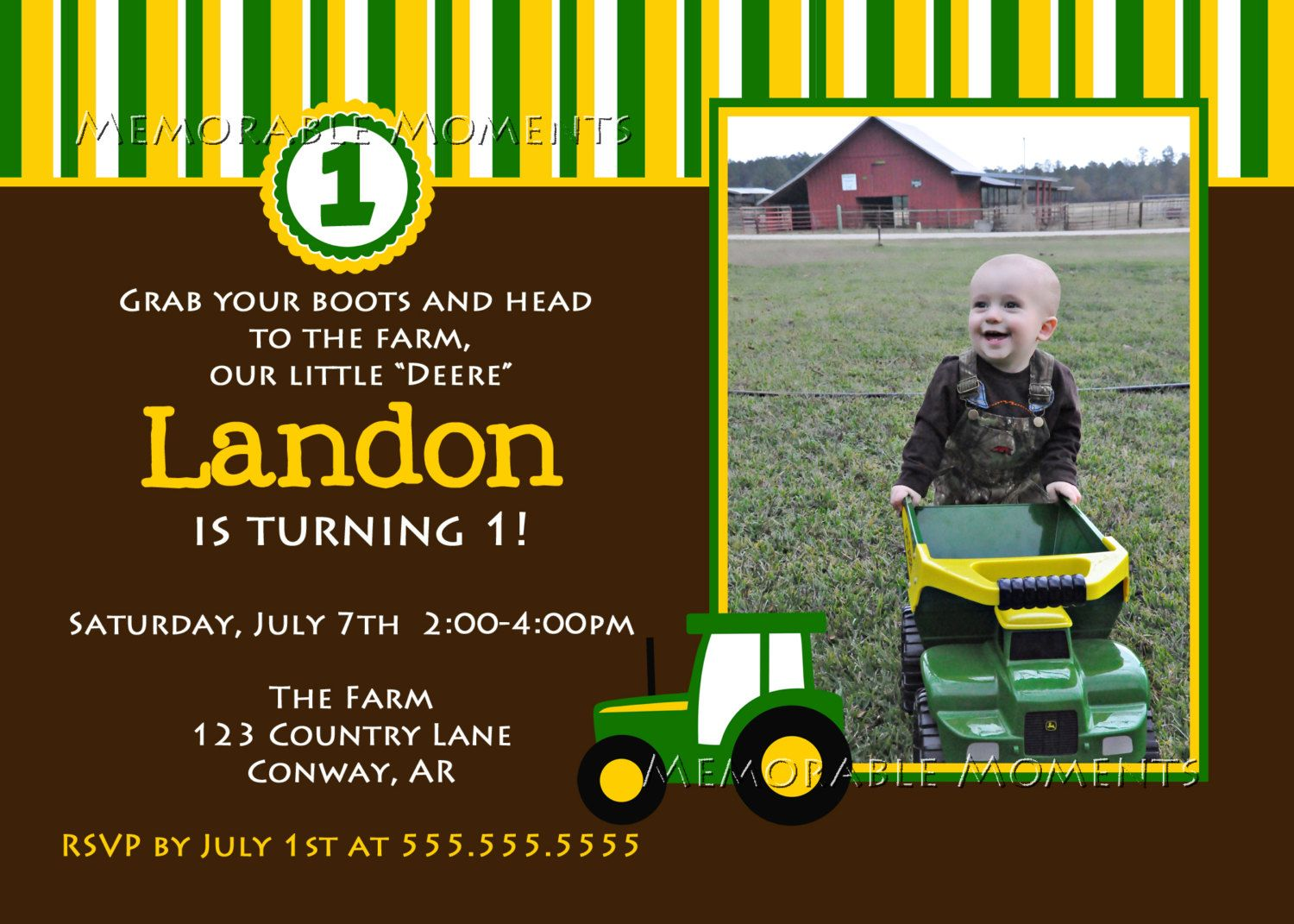 John Deere Birthday Invitations Free Ideas Check More At Nataliesinvitation