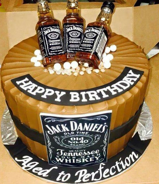 Jack Daniels theme for those who enjoy their drinks Birthday Cake