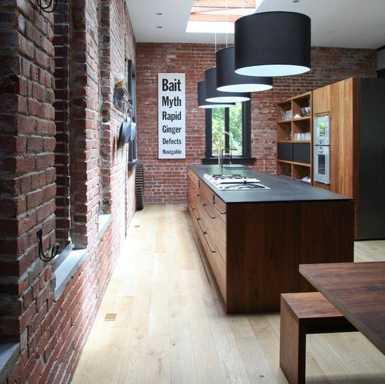 como decorar cocina cocina con ladrillo caravista cocina moderna