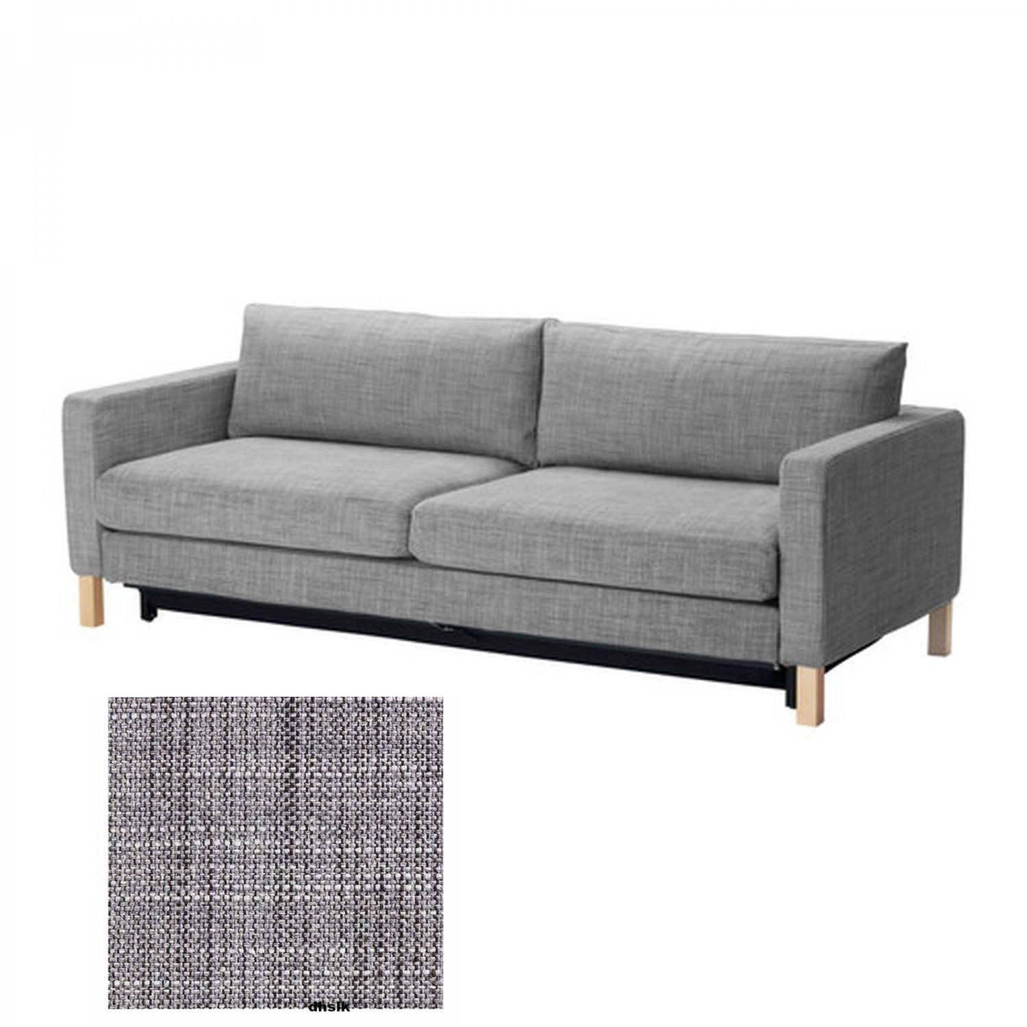 Beau Karlstad Sofa Bed Cover Isunda Grey