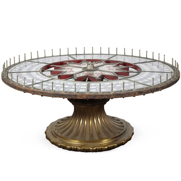 1stdibs   Amazing roulette wheel game table
