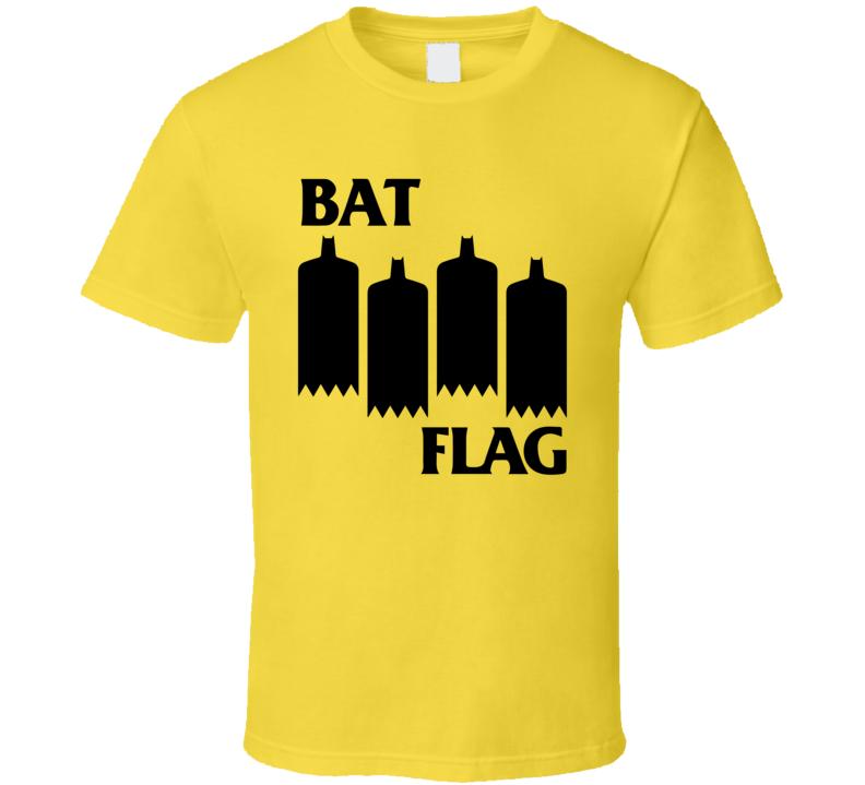 Bat Flag Black Flag Band Music Logo Parody Batman Fan T Shirt Black Flag Band Music Logo Black Flag