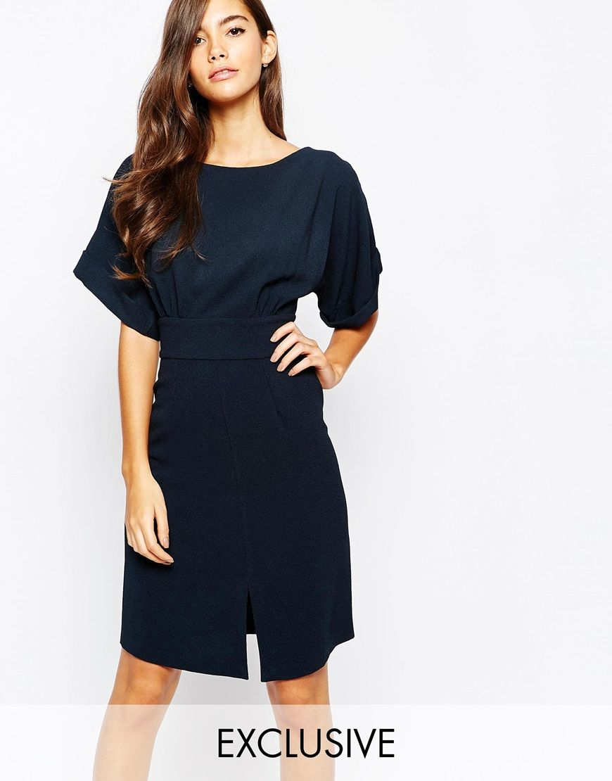 Buy Cheap Pay With Visa Kimono Sleeve Mini Dress With Tie Back Detail And Split Front - Multi Closet Curves Cheap Collections cSoGNeH