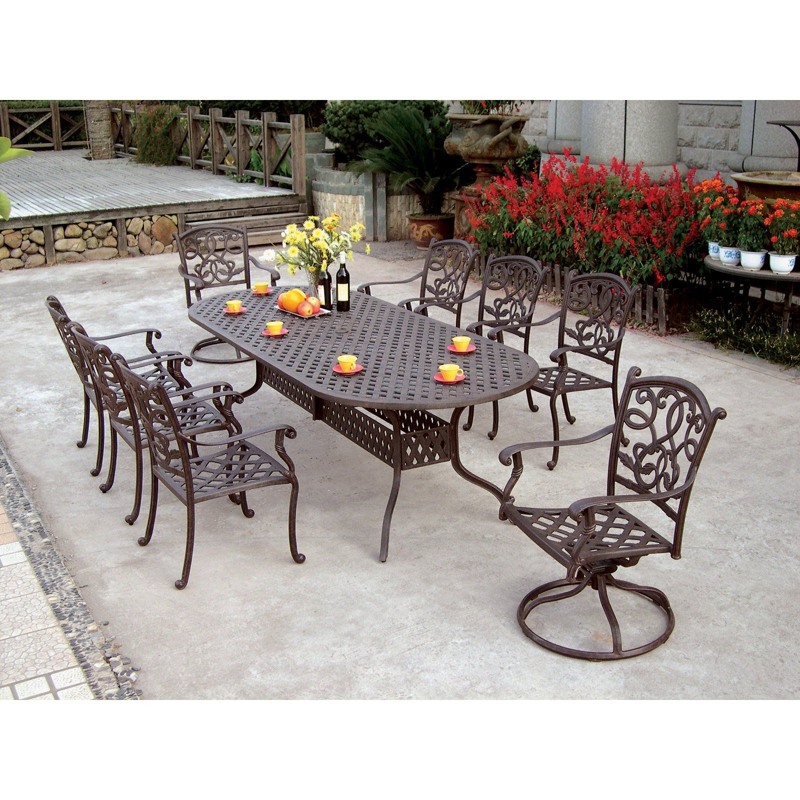 look inside patio set table iron furnitures the kienandsweet sophisticated wrought in oval