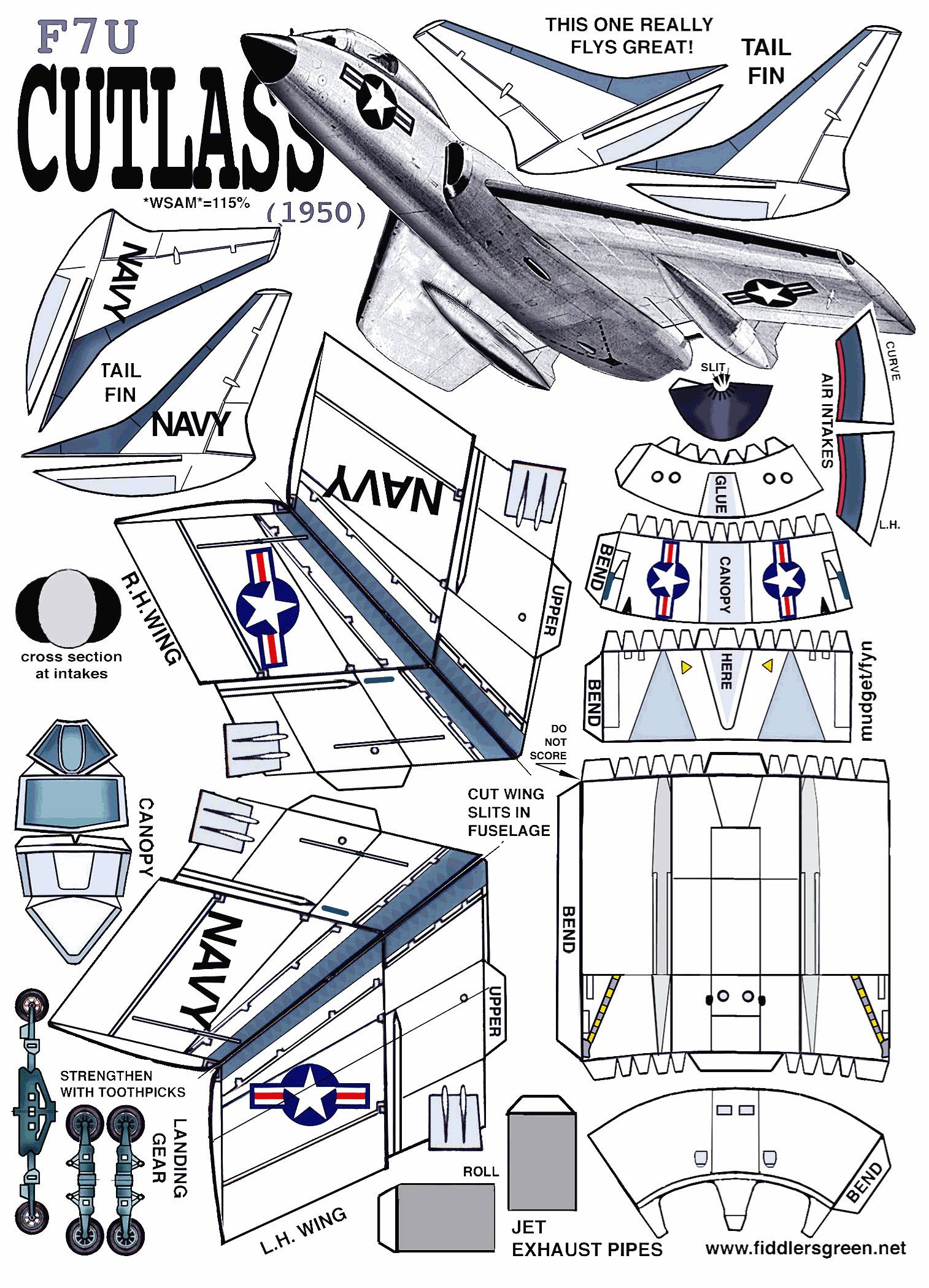 Cutlass airplane pinterest papercraft planes and airplanes