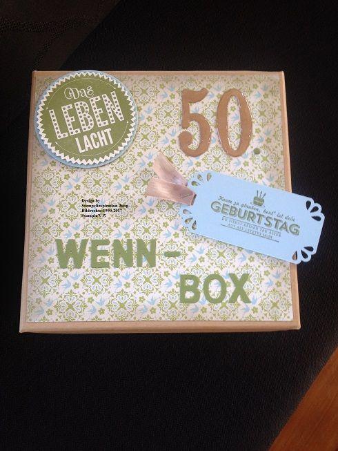 wenn box zum 50 geburtstag geschenkideen pinterest. Black Bedroom Furniture Sets. Home Design Ideas