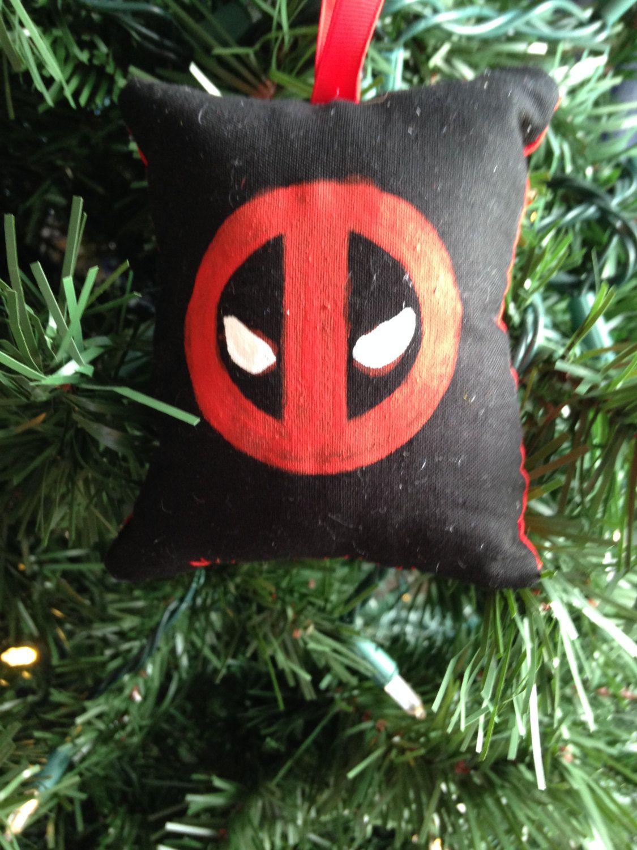 Deadpool Logo Symbol Christmas Ornament Marvel Anti Hero X Men