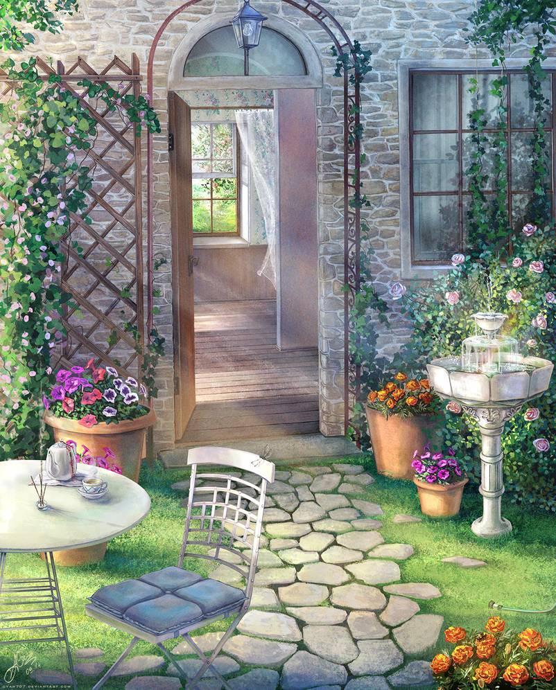 Blooming Garden By Cyan707 On Deviantart Garden Bloom Garden Arch