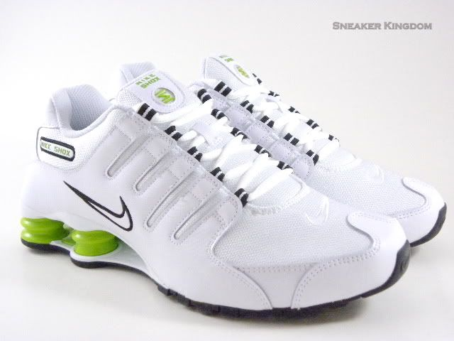 size 40 3daa9 c896d Nike Shox NZ White/Lime Green/Black Running Men Shoes ...