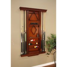 Decorative Wall Mount Rack Storage Cue Ball Pool Stick Game Billiards Home Bar Billiards Room Decor Billiard Room Billiard Accessories