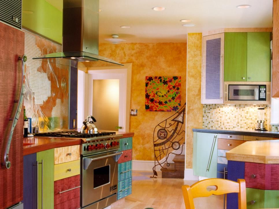 Art-Inspired Kitchens Glass curio cabinets, Art and Sculpture