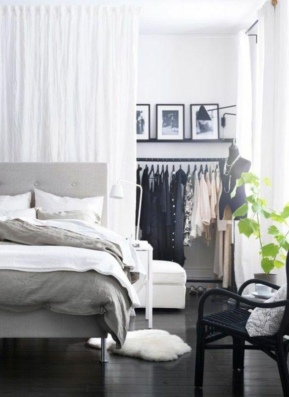 Raumteiler Ideen Weiter Beispiel Vorhang Trennwand Interieurs - Trennwand schlafzimmer