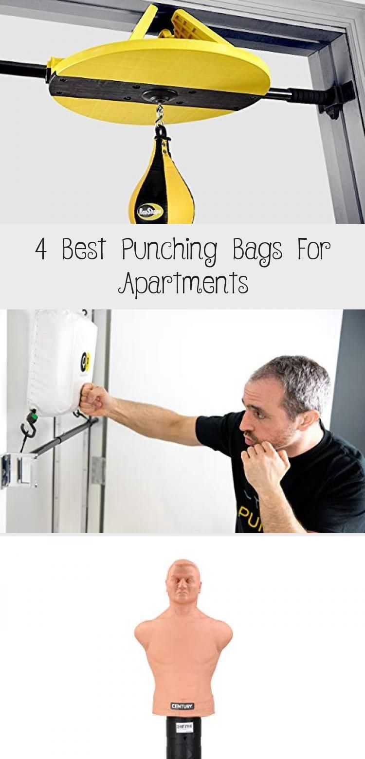 Small apartments can be tricky to set up punching bags. I've