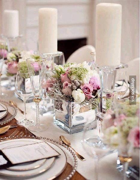 centros de mesa para aos con flores en agua