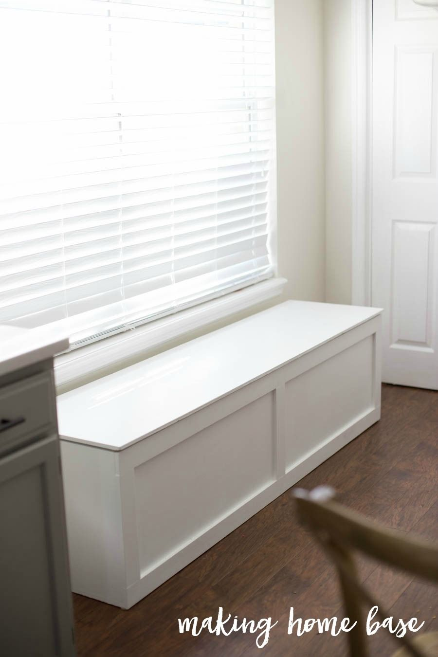 How To Build A Window Seat Making Home Base Storage Bench