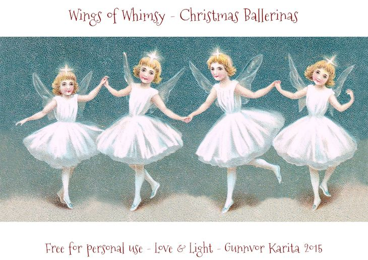 Wings of Whimsy: Christmas Ballerinas Lantern #vintage #ephemera #freebie #printable #ballerina #lantern