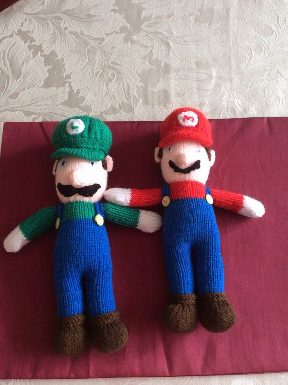 Knitted Mario And Luigi Dolls By Janellicraftz On Etsy Knitting