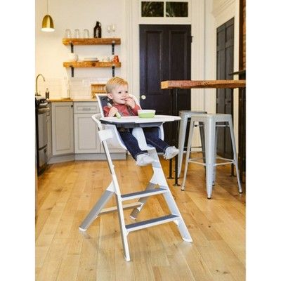 4moms High Chair With Magnetic One Handed Tray Attachment White