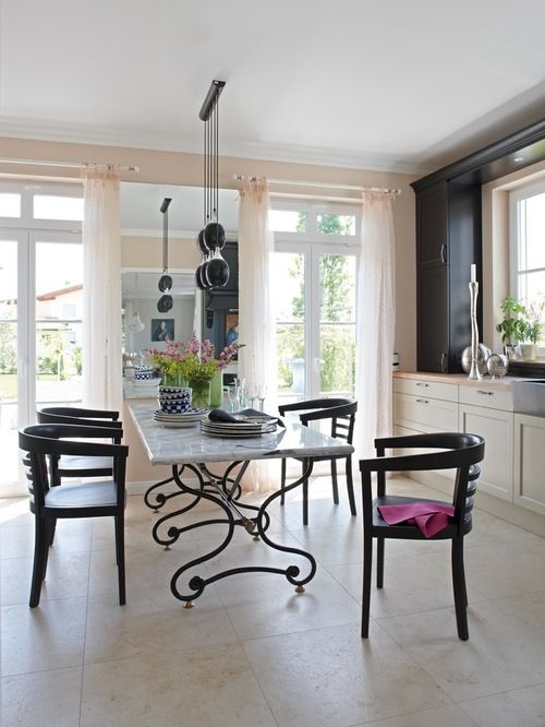 Simple Dining Room Design With A Creative Marble Table And Pleasing Simple Dining Room Inspiration Design