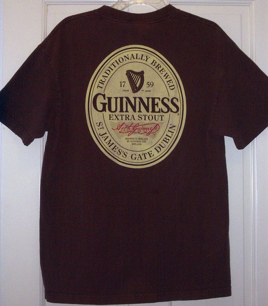 6f662e5a Vtg Official GUINNESS Original Logo Signature Irish Beer Dublin Ireland  Shirt~L #Guinness #GraphicTee