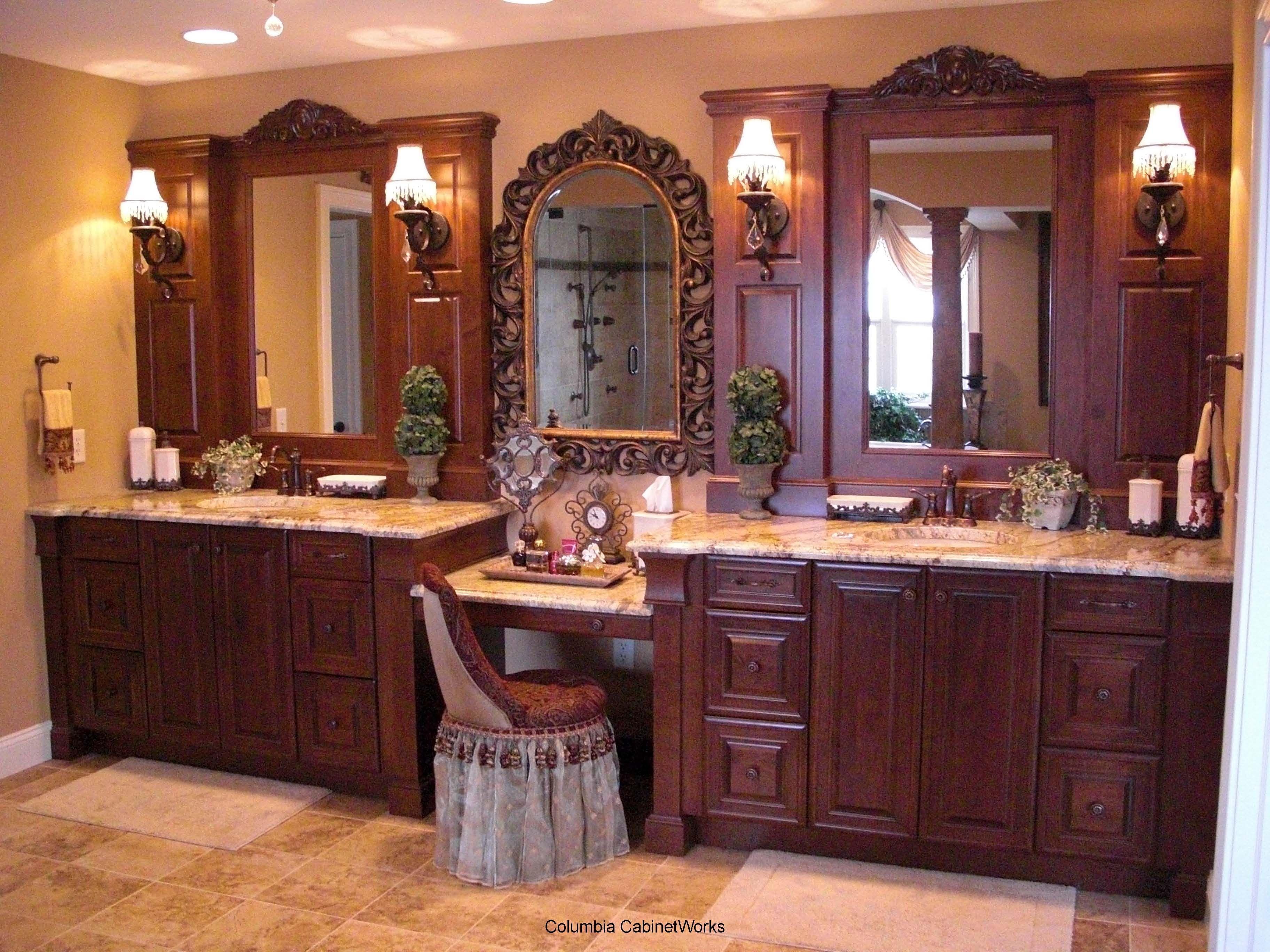 Imposing Simple Vanity Bathroom Ideas With Images Bathroom Vanity Decor Brown Bathroom Decor Master Bathroom Vanity