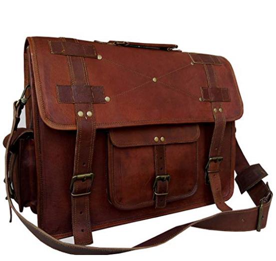 Leather Messenger Bags for Men Women Mens Briefcase Laptop Computer Shoulder bag