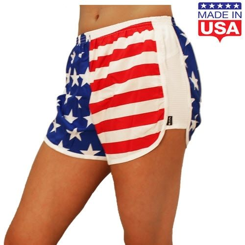 Womens American Flag Running Shorts Running Shorts Patriotic Outfit Women