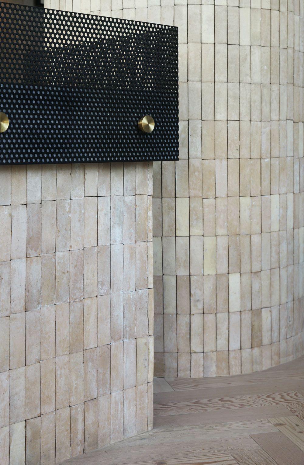 Auvers cafe by Matt Woods. Photo by Dave Wheeler. #interior #hospitality #interiordesign #brick