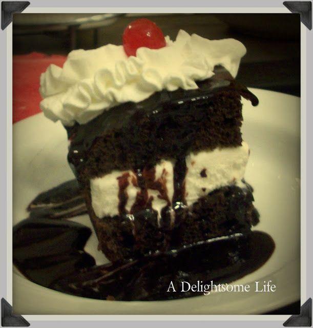 Hot Fudge Ice Cream Cake - A Delightsome Life