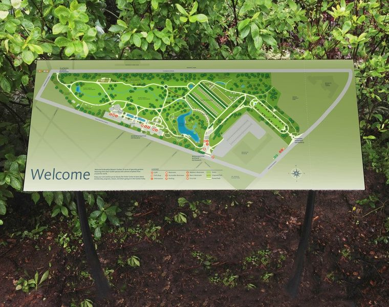 Project Image 1 For Signs Wayfinding Brooklyn Botanic Garden Parks Signage Pinterest