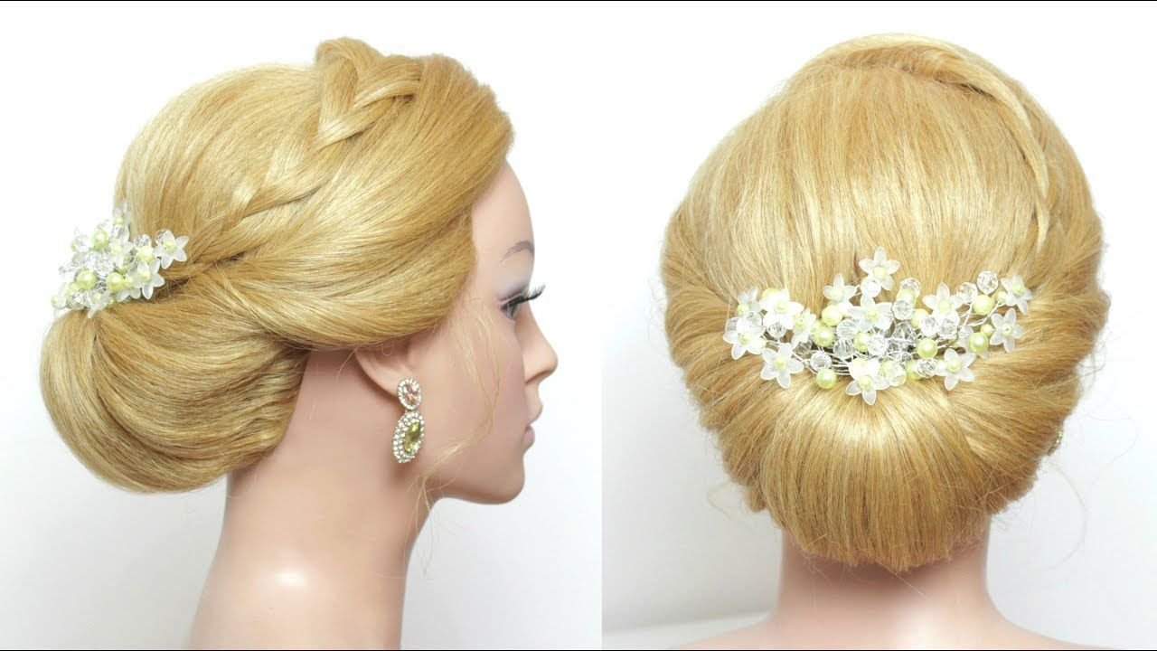 Easy bridal updo hairstyle for long hair tutorial youtube hair
