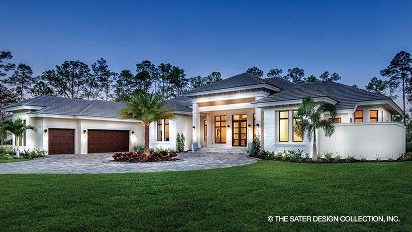 the benton house plan l sater design collection l concrete home plans - Luxury Concrete Home Plans