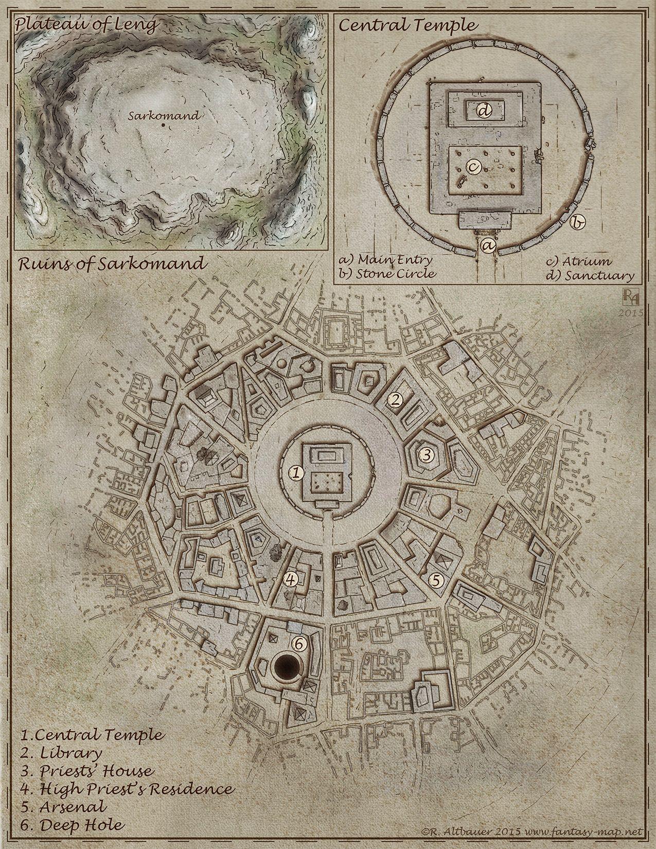 Artstation Plateau Of Leng Robert Altbauer Maps Fantasy Map