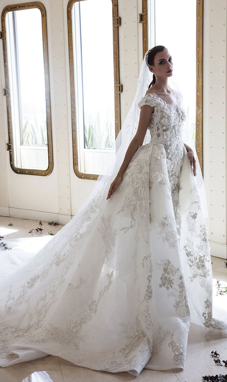 57 stunning wedding dresses with detachable skirts i