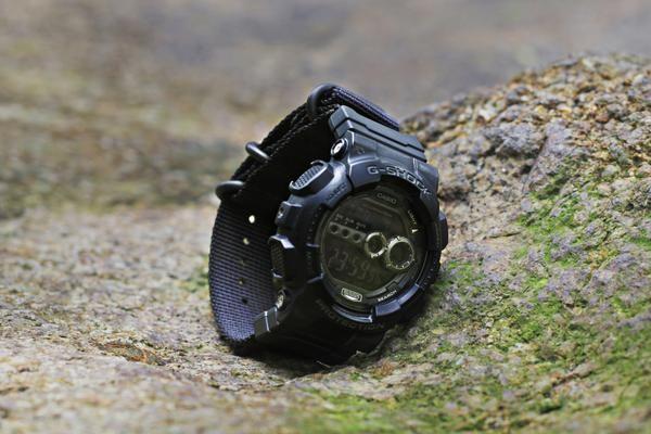 04d9ddcb7ec Casio G-Shock GD-100 with 24mm ballistic black nylon strap and Casio nato  adapter