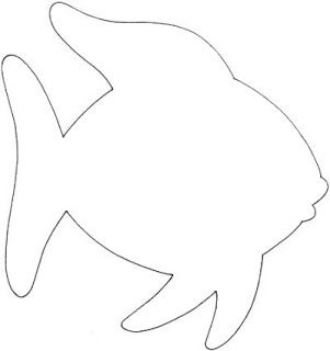 Fish outline cut out. Printing first the template