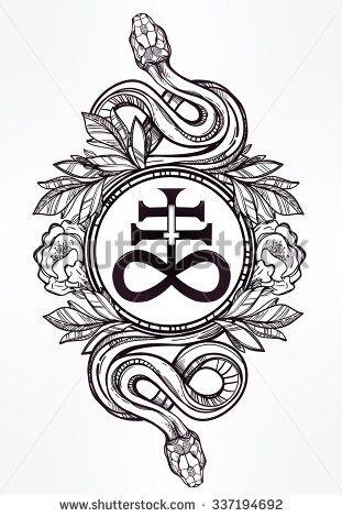 Hand Drawn Vintage Tattoo Art Vintage Symbol Highly Detailed Hand