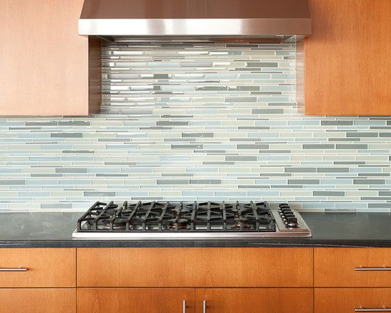 Kitchen With Glass Tile Backsplash Glass Kitchen Backsplash