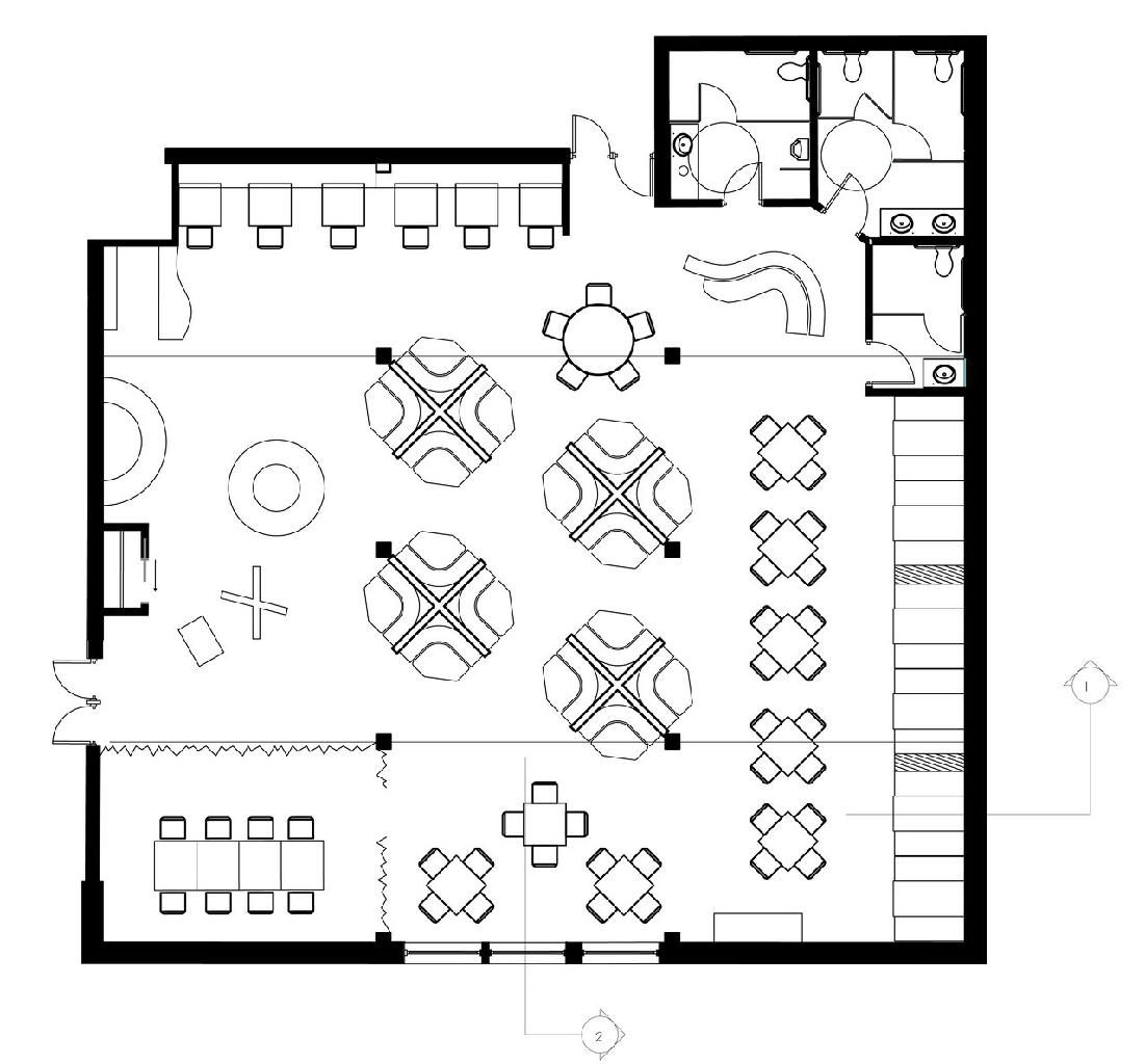 Restaurant Kitchen Layout Autocad: Restaurant Floor Plan