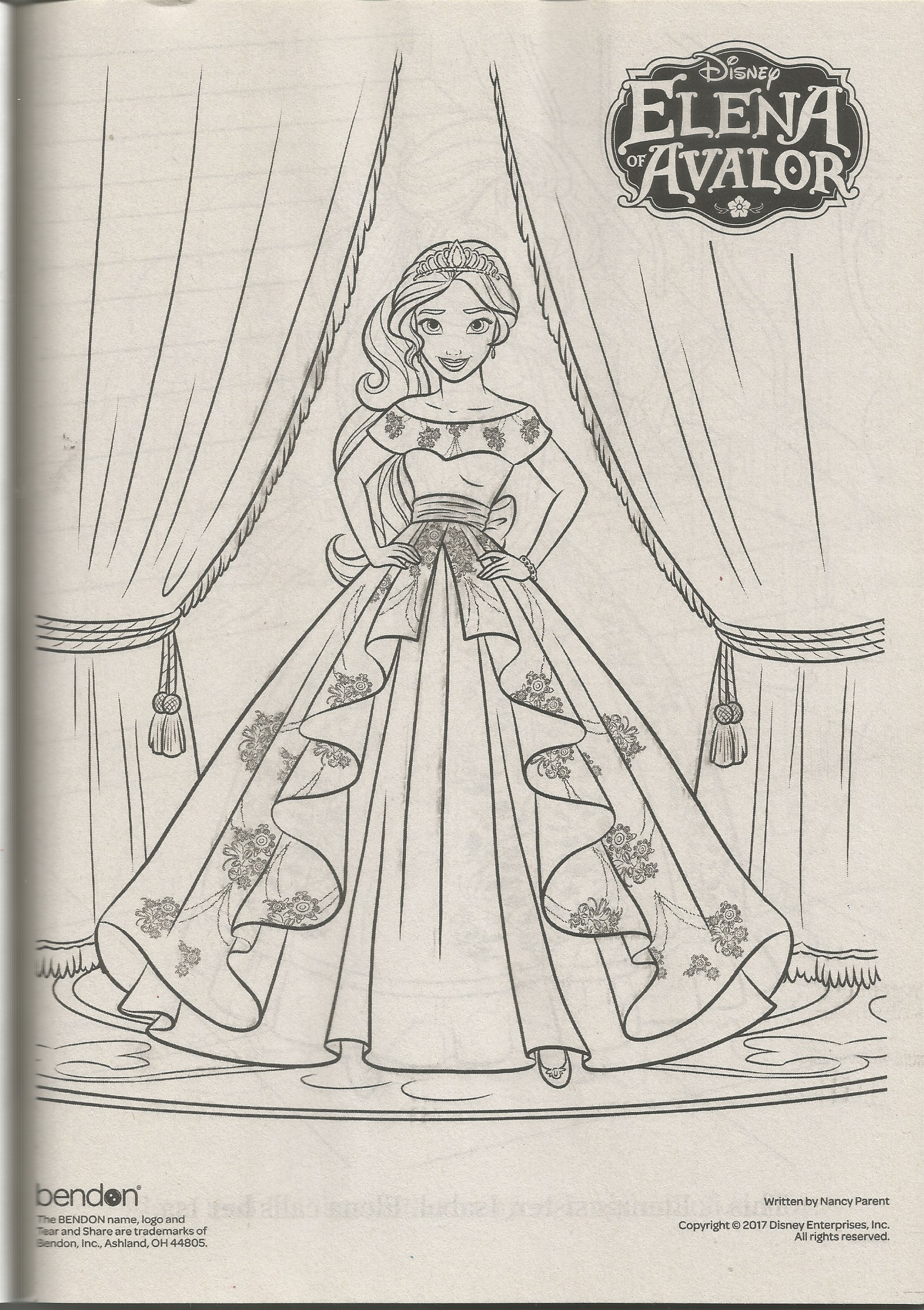 Elena Of Avalor Coloring Page Coloring Pages Color Male Sketch [ png ]