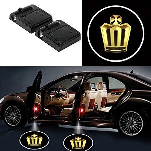 2 Pcs Led Car Door Logo Ghost Shadow Light For Crown Car Car
