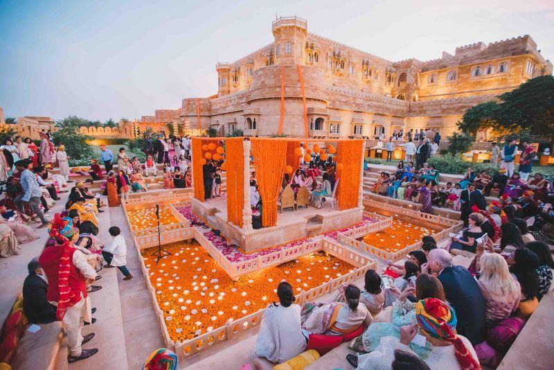 Contemporary Indian Desert Wedding In 2020 Indian Destination