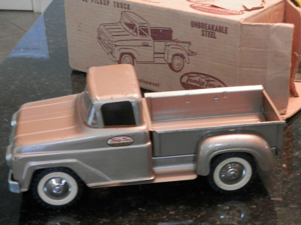 Vintage Toy Trucks Part - 42: VINTAGE TONKA PICK-UP TOY TRUCK WITH ORIGINAL BOX EARLY 60u0027S #Tonka