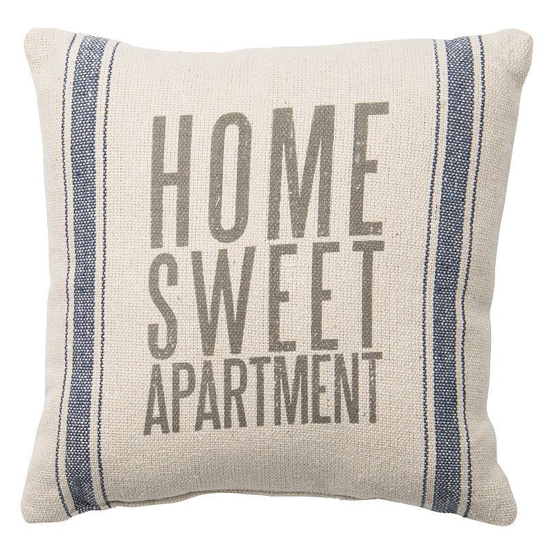 Home Sweet Apartment Throw Pillow, Beig/Green (Beig/Khaki)