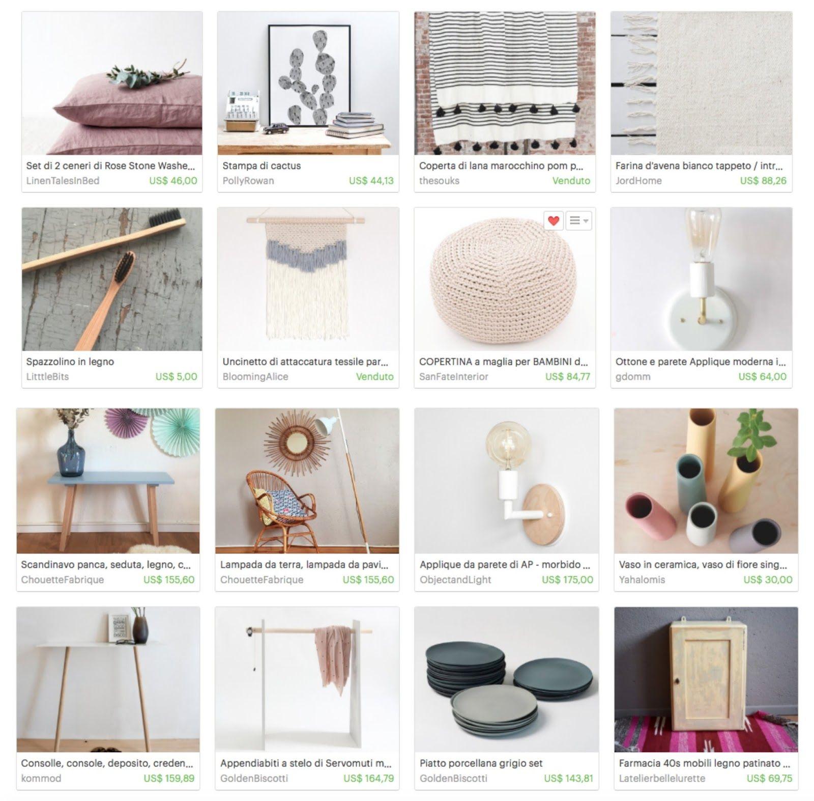 Se amate l'handmade o gli oggetti vintage, si sa, Etsy  è una vera miniera d'oro.   Io stessa durante questi ultimi mesi mi sono lasciata p...