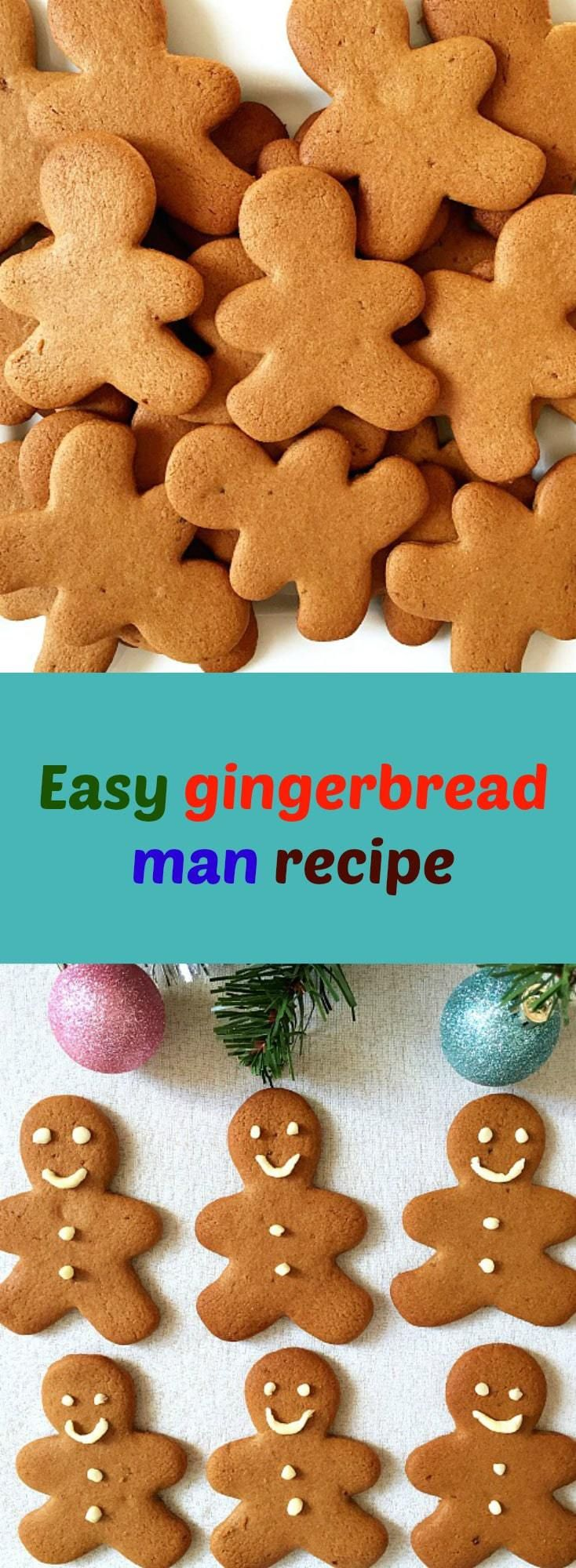 Easy Gingerbread Man Recipe Youth Projects Pinterest