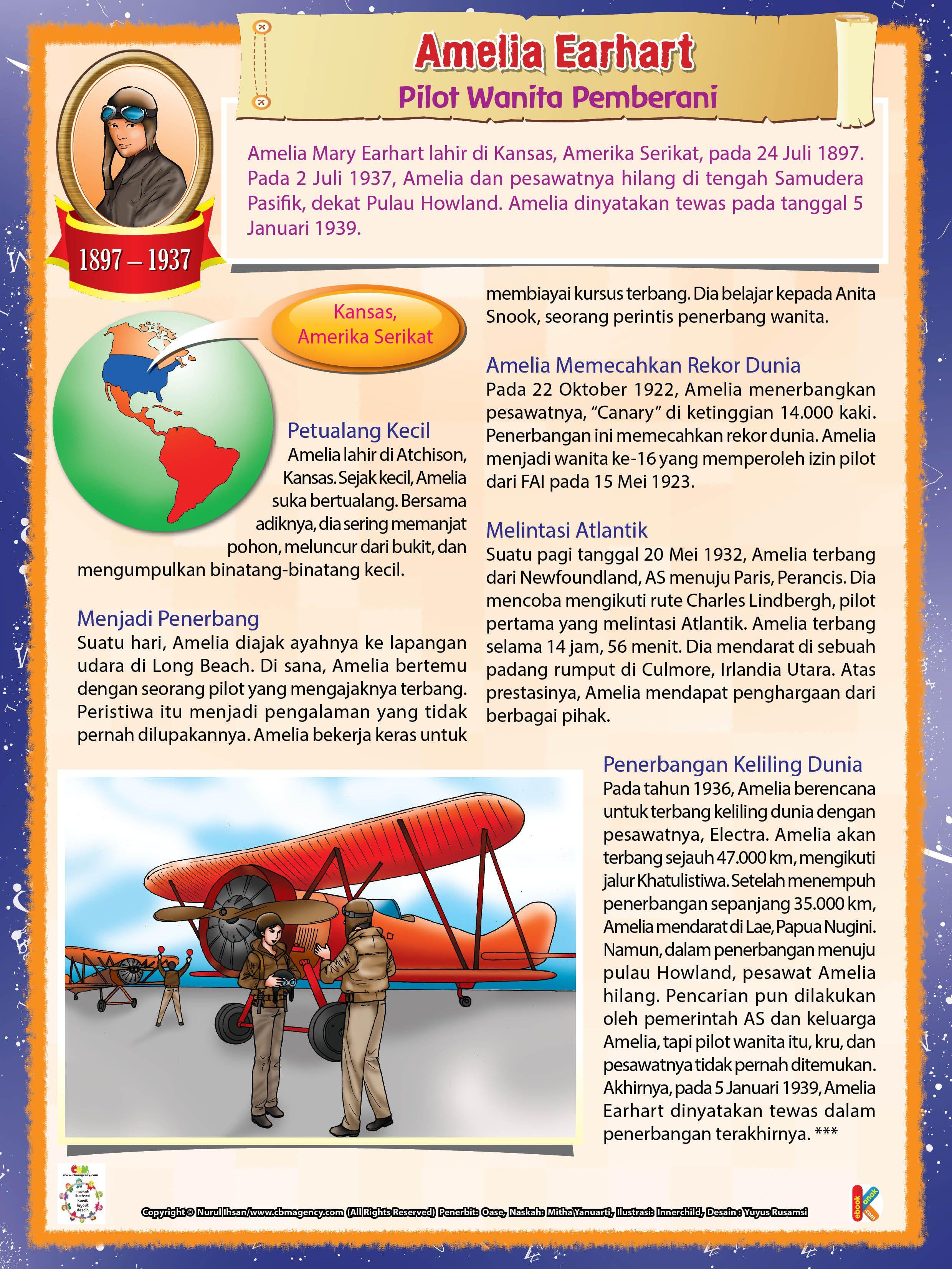 Amelia Earhart Pilot Wanita Paling Berani