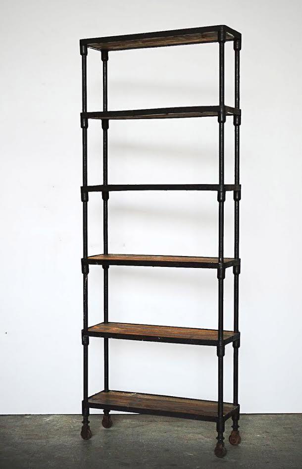 Libreria ferro battuto industrial | Progetti con i pallet ...